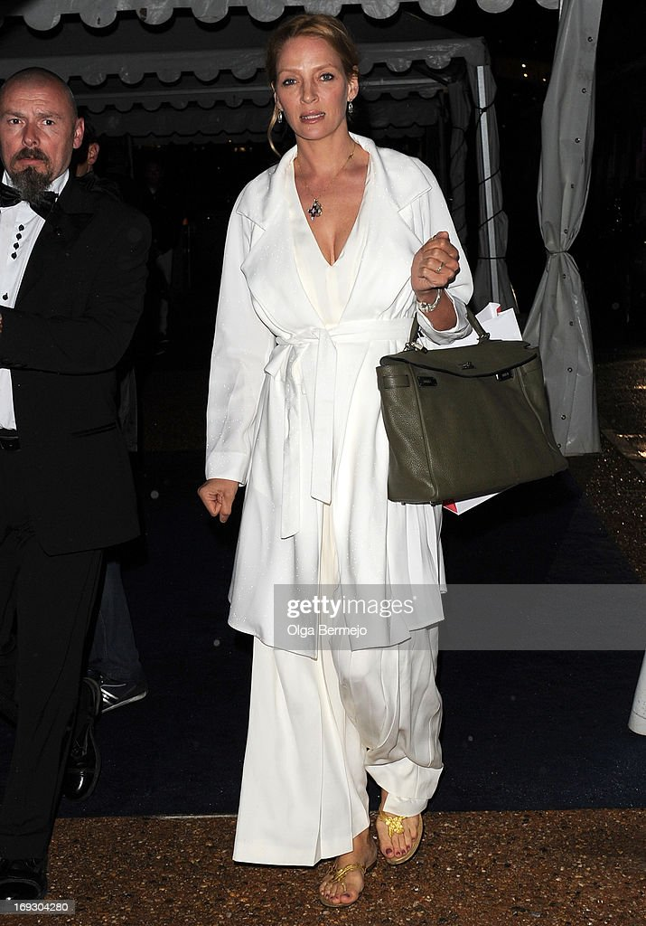 <a gi-track='captionPersonalityLinkClicked' href=/galleries/search?phrase=Uma+Thurman&family=editorial&specificpeople=171973 ng-click='$event.stopPropagation()'>Uma Thurman</a> attends the 66th Annual Cannes Film Festival on May 22, 2013 in Cannes, France.