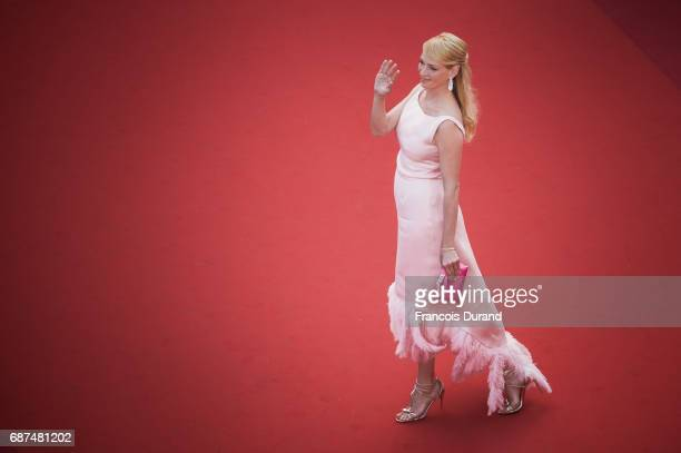Uma Thurman attends the 70th Anniversary Event during the 70th annual Cannes Film Festival at Palais des Festivals on May 23 2017 in Cannes France