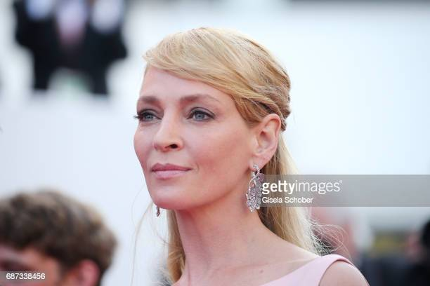 Uma Thurman attends the 70th Anniversary of the 70th annual Cannes Film Festival at Palais des Festivals on May 23 2017 in Cannes France