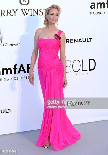 Uma Thurman attends the amfAR's 23rd Cinema Against AIDS Gala at Hotel du CapEdenRoc on May 19 2016 in Cap d'Antibes France
