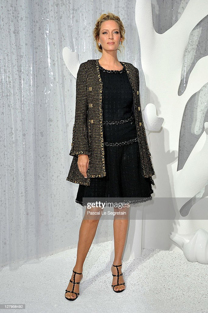 <a gi-track='captionPersonalityLinkClicked' href=/galleries/search?phrase=Uma+Thurman&family=editorial&specificpeople=171973 ng-click='$event.stopPropagation()'>Uma Thurman</a> attends the Chanel Ready to Wear Spring / Summer 2012 show during Paris Fashion Week at Grand Palais on October 4, 2011 in Paris, France.