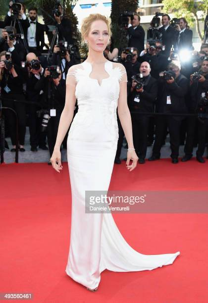 Uma Thurman attends the Closing Ceremony and 'A Fistful of Dollars' Screening during the 67th Annual Cannes Film Festival on May 24 2014 in Cannes...
