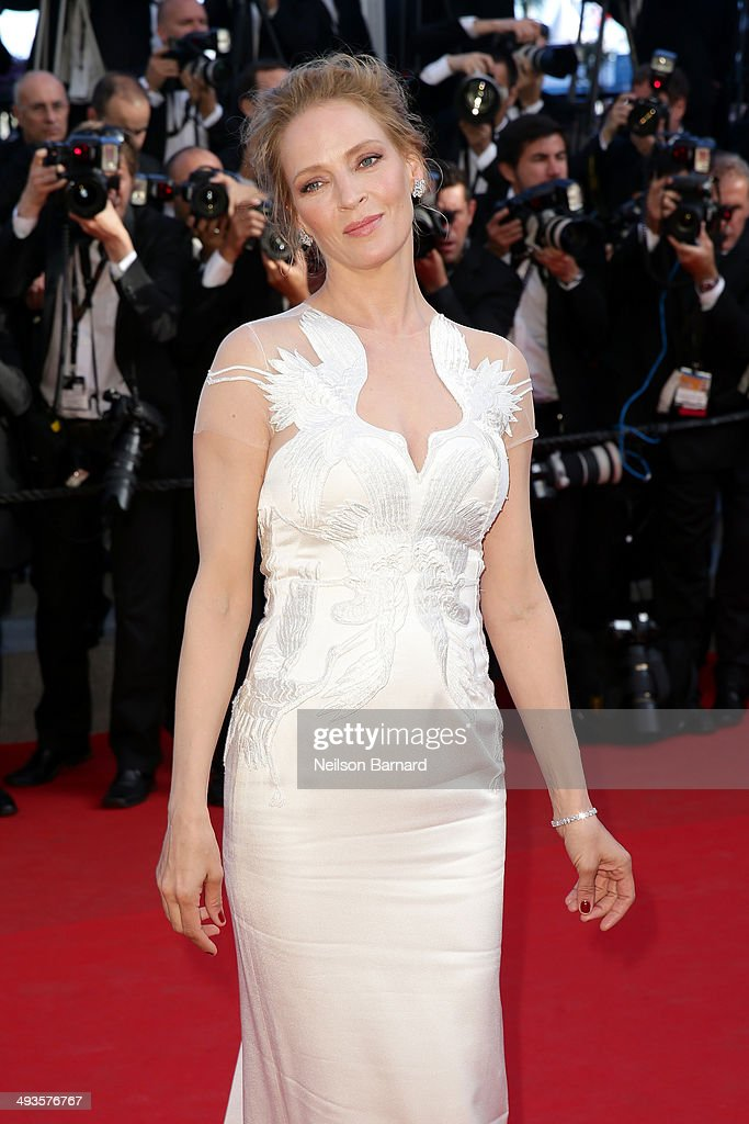 Uma Thurman attends the Closing Ceremony and 'A Fistful of Dollars' screening during the 67th Annual Cannes Film Festival on May 24, 2014 in Cannes, France.