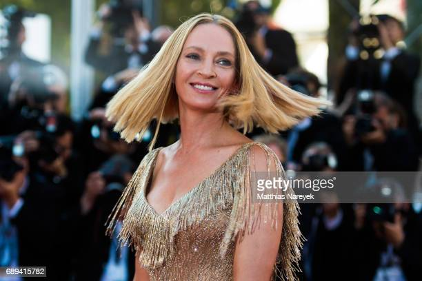 Uma Thurman attends the Closing Ceremony of the 70th annual Cannes Film Festival at Palais des Festivals on May 28 2017 in Cannes France