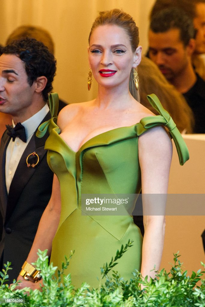 Uma Thurman attends the Costume Institute Gala for the 'PUNK: Chaos to Couture' exhibition at the Metropolitan Museum of Art on May 6, 2013 in New York City.