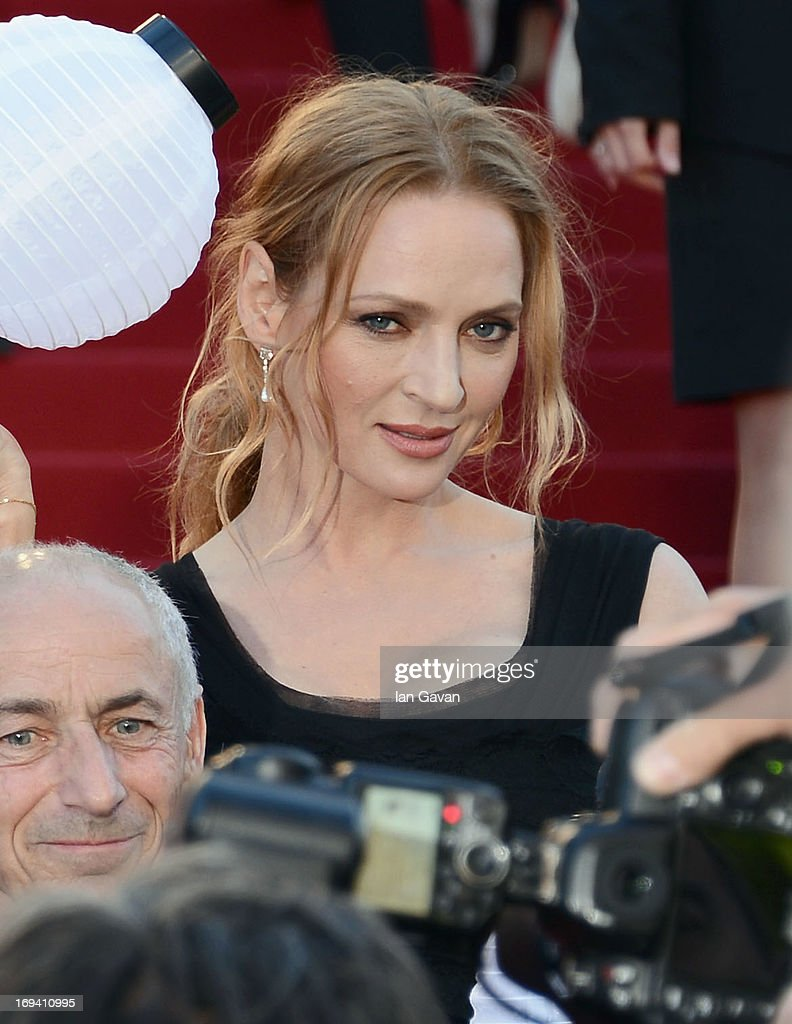 <a gi-track='captionPersonalityLinkClicked' href=/galleries/search?phrase=Uma+Thurman&family=editorial&specificpeople=171973 ng-click='$event.stopPropagation()'>Uma Thurman</a> attends 'The Immigrant' Premiere during the 66th Annual Cannes Film Festival at Grand Theatre Lumiere on May 24, 2013 in Cannes, France.