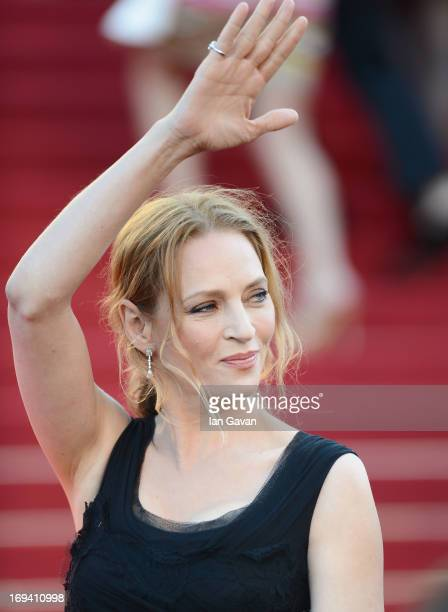Uma Thurman attends 'The Immigrant' Premiere during the 66th Annual Cannes Film Festival at Grand Theatre Lumiere on May 24 2013 in Cannes France