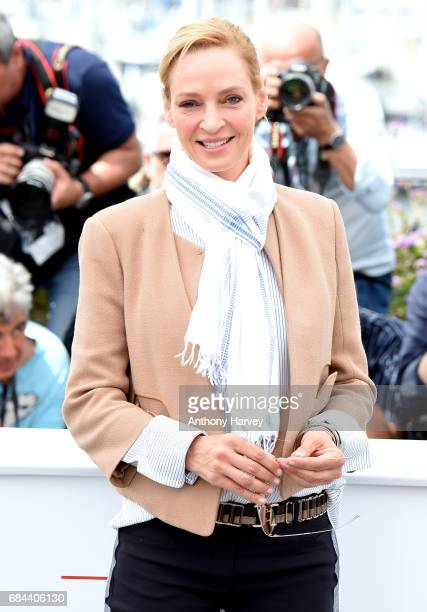 Uma Thurman attends the Jury Camera D'Or photocall during the 70th annual Cannes Film Festival at Palais des Festivals on May 18 2017 in Cannes France