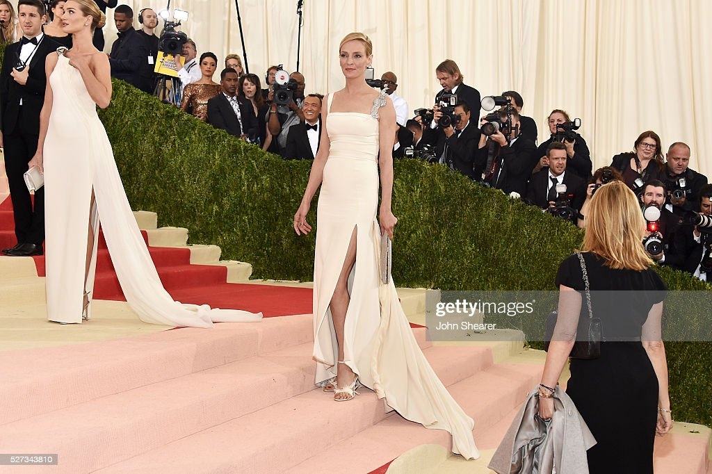 Uma Thurman attends the 'Manus x Machina: Fashion In An Age Of Technology' Costume Institute Gala at Metropolitan Museum of Art on May 2, 2016 in New York City.