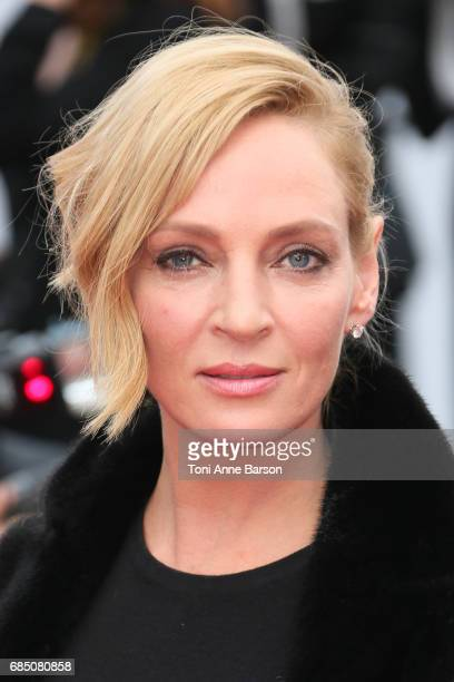 Uma Thurman attends the 'Nelyobov ' screening during the 70th annual Cannes Film Festival at Palais des Festivals on May 18 2017 in Cannes France
