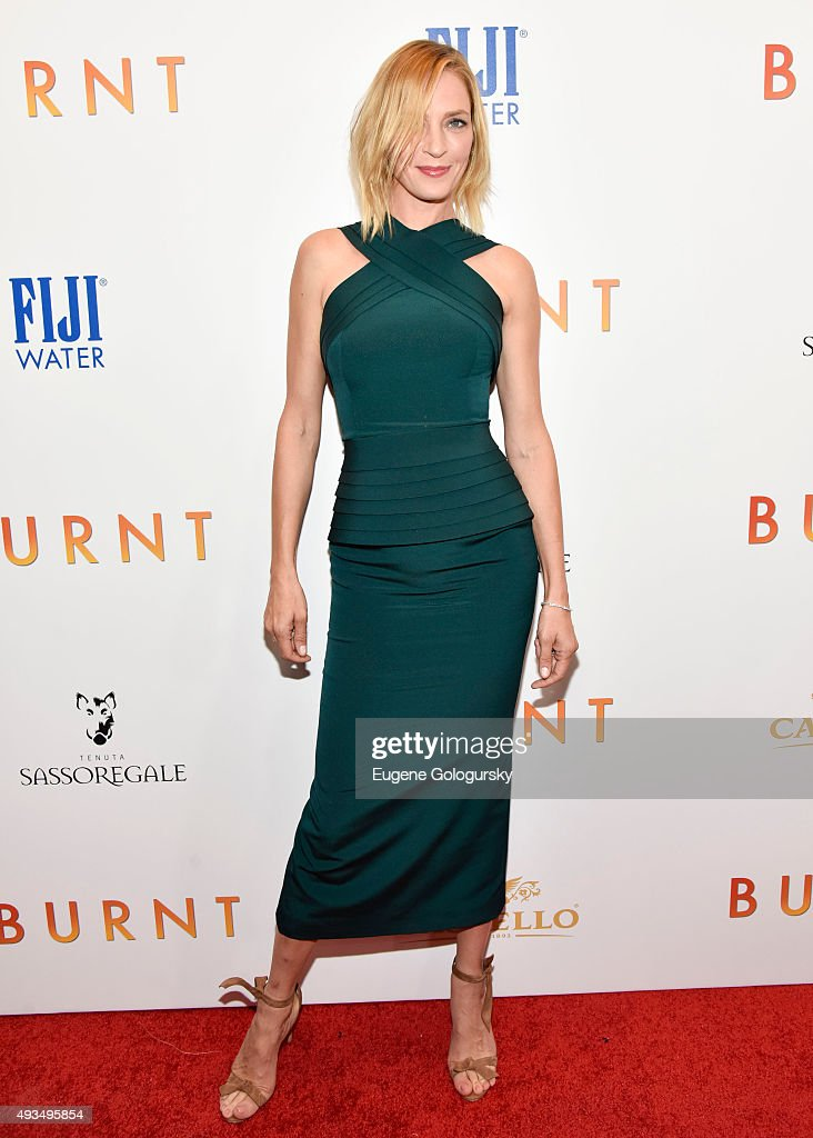 <a gi-track='captionPersonalityLinkClicked' href=/galleries/search?phrase=Uma+Thurman&family=editorial&specificpeople=171973 ng-click='$event.stopPropagation()'>Uma Thurman</a> attends The New York Premiere Of BURNT, Presented By The Weinstein Company And FIJI Water MOMA on October 20, 2015 in New York City.