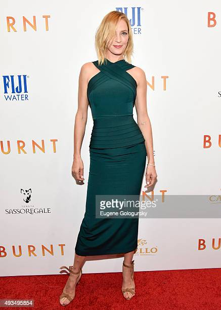 Uma Thurman attends The New York Premiere Of BURNT Presented By The Weinstein Company And FIJI Water MOMA on October 20 2015 in New York City