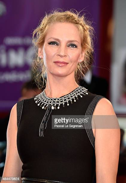 Uma Thurman attends the 'Nymphomaniac Volume 2 Directors Cut' Premiere during the 71st Venice Film Festival on September 1 2014 in Venice Italy