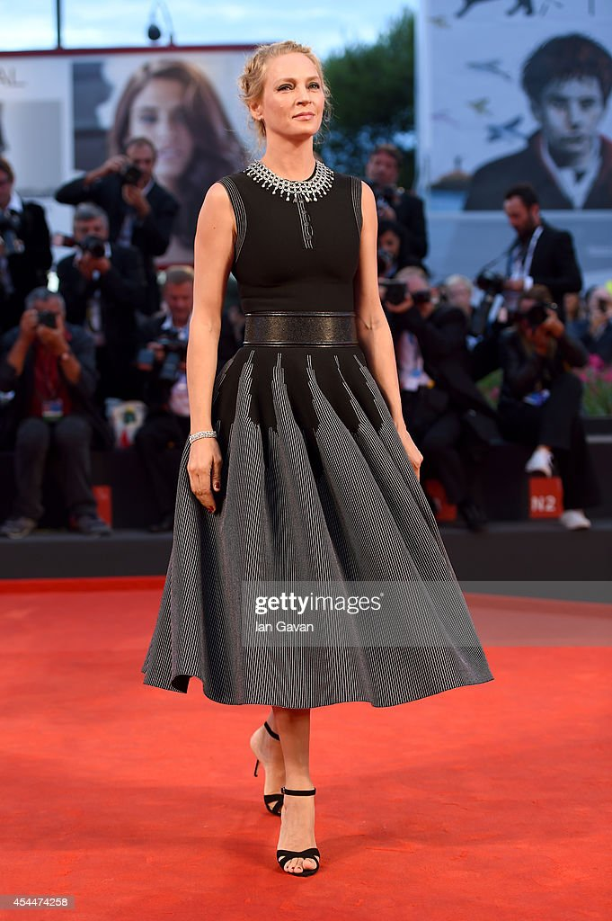 Uma Thurman attends the 'Nymphomaniac: Volume 2 - Directors Cut' Premiere during the 71st Venice Film Festival on September 1, 2014 in Venice, Italy.