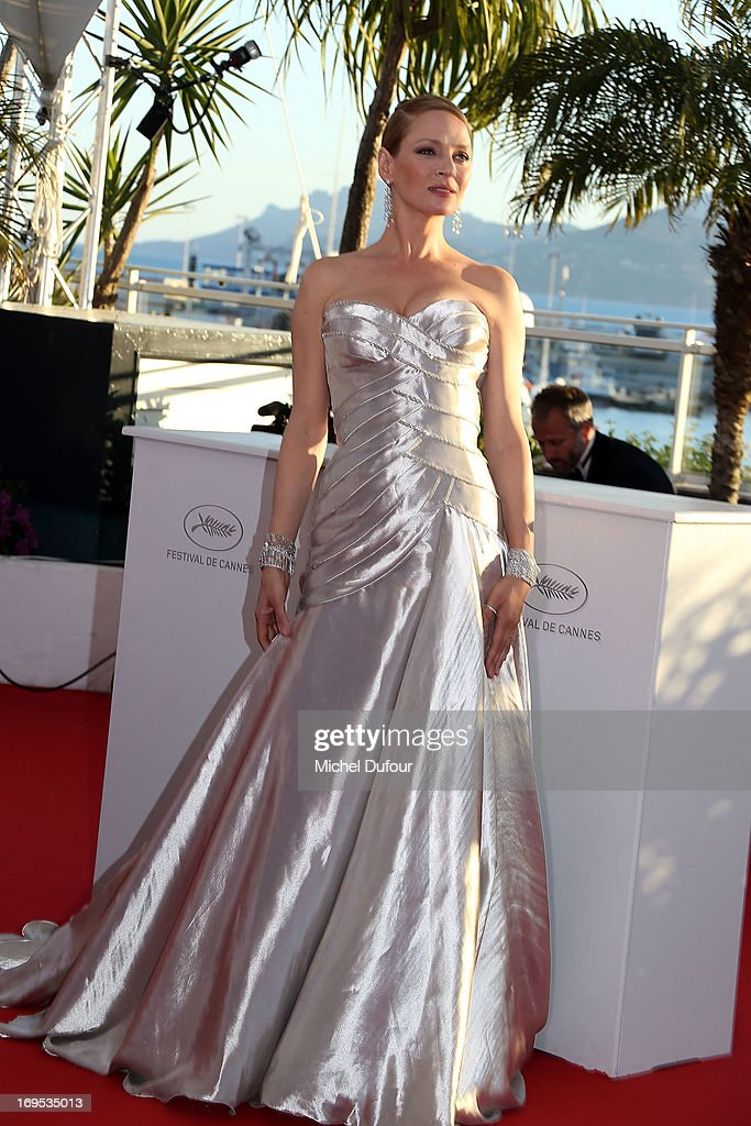 Uma Thurman attends the Palme D'Or Winners Photocall during the 66th Annual Cannes Film Festival at the Palais des Festivals on May 26, 2013 in Cannes, France.