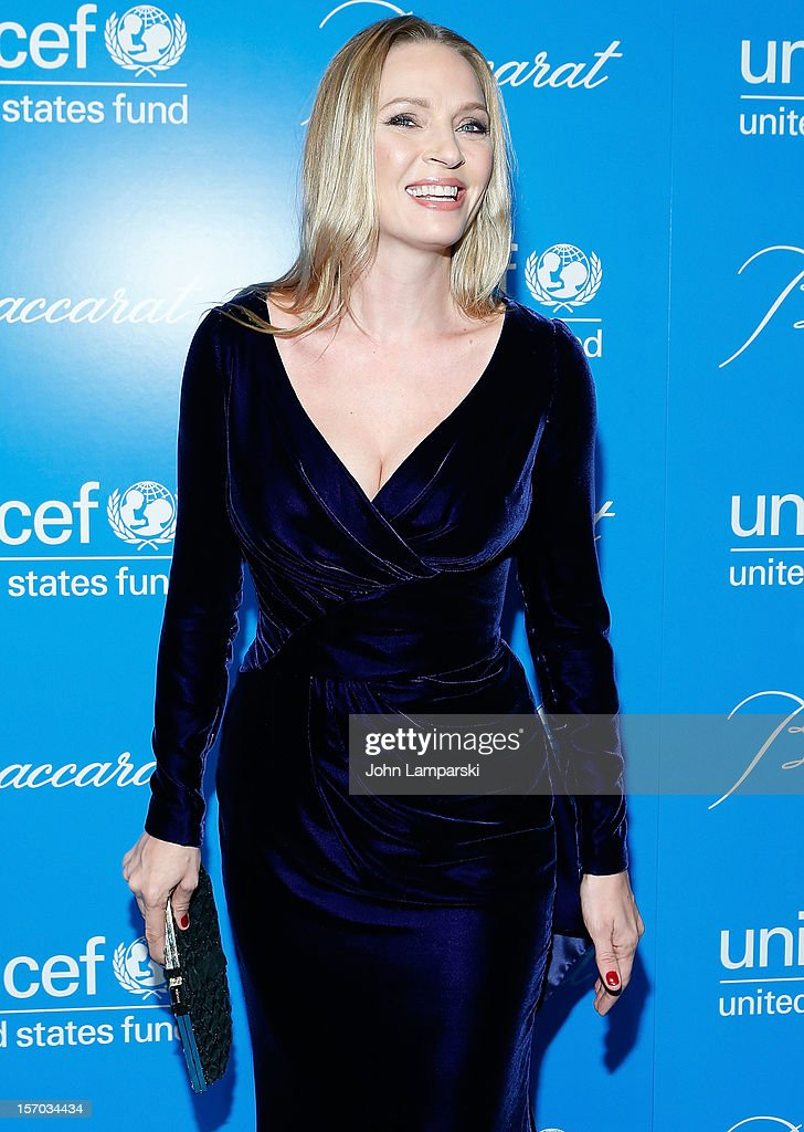 <a gi-track='captionPersonalityLinkClicked' href=/galleries/search?phrase=Uma+Thurman&family=editorial&specificpeople=171973 ng-click='$event.stopPropagation()'>Uma Thurman</a> attends the UNICEF Snowflake Ball 2012 at Cipriani 42nd Street on November 27, 2012 in New York City.