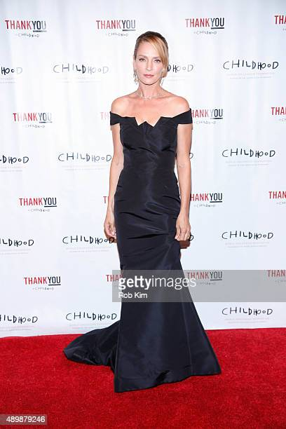 Uma Thurman attends World Childhood Foundation USA ThankYou Gala 2015 on September 24 2015 in New York City