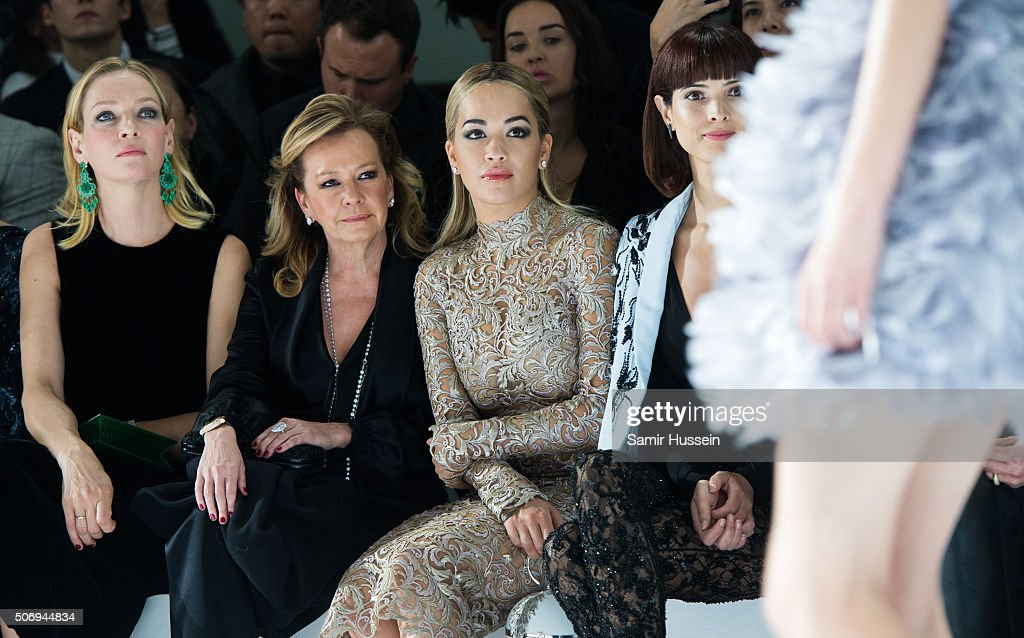 Ralph & Russo : Front Row - Paris Fashion Week - Haute Couture Spring Summer 2016
