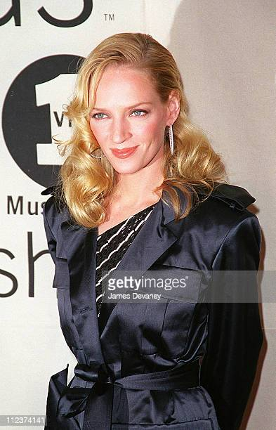 Uma Thurman during 2000 VH1 Vogue Fashion Awards Arrivals at Madison Square Garden in New York City New York United States