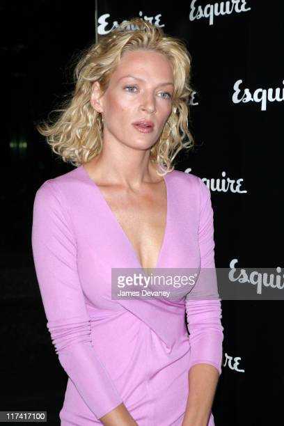Uma Thurman during Esquire Apartment 2003 Launch Party Arrivals at Esquire Apartment Trump World Tower in New York City New York United States