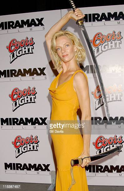 Uma Thurman during 'Kill Bill Volume 1' New York Premiere and After Party at Ziegfeld Theater in New York City New York United States