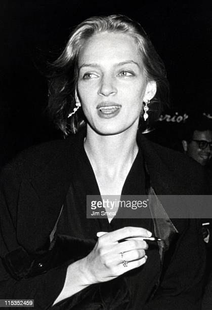 Uma Thurman during Premiere of 'Final Analysis' in Los Angeles at Bruin Theater in Westwood Village California United States