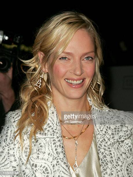 Uma Thurman during 'Prime' New York City Premiere Outside Arrivals at Ziegfeld Theater in New York City New York United States