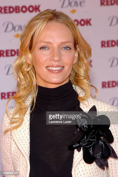 Uma Thurman during Redbook's Annual Mothers and Shakers Awards at Avery Fisher Hall in New York City New York United States