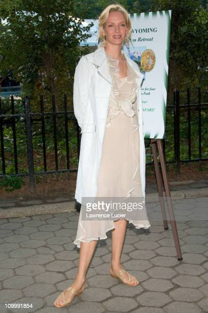 Uma Thurman during The Central Park Zoo Hosts Wildlife Conservation SAFARI 2006 at Central Park Zoo in New York New York United States