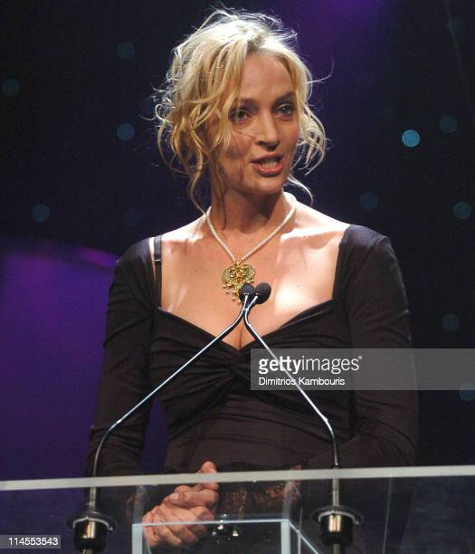 Uma Thurman during The Christopher Reeve Foundation's 'A Magical Evening' Gala at Mariott Marquis in New York New York United States