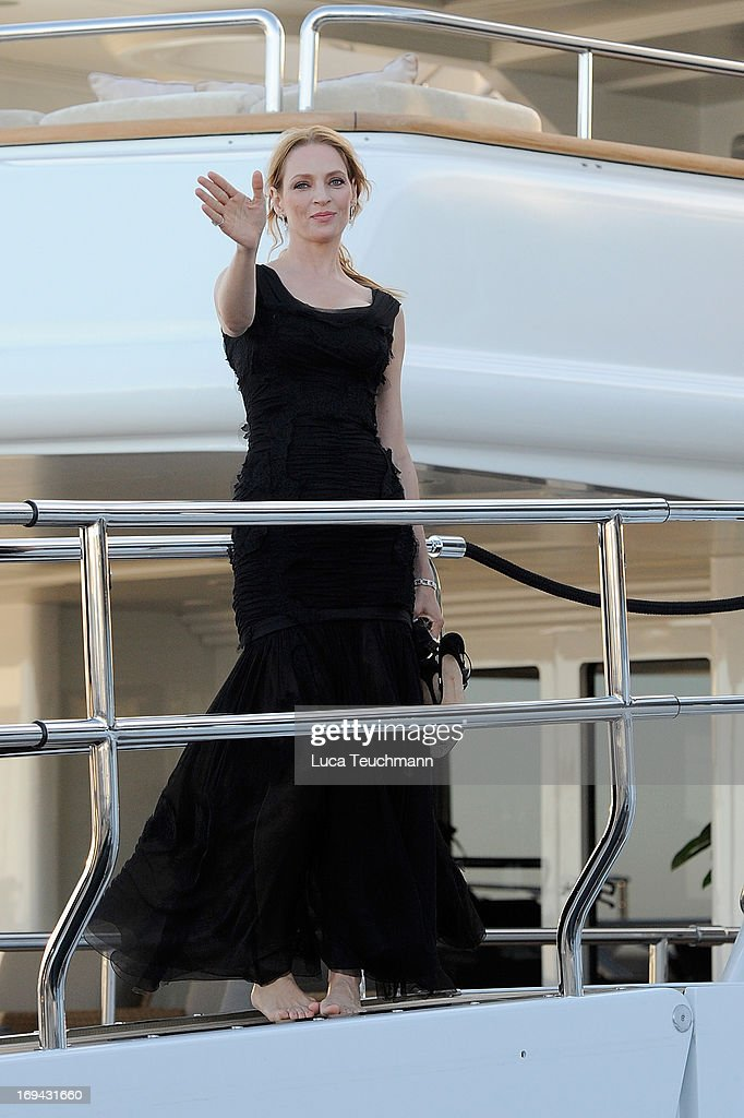 <a gi-track='captionPersonalityLinkClicked' href=/galleries/search?phrase=Uma+Thurman&family=editorial&specificpeople=171973 ng-click='$event.stopPropagation()'>Uma Thurman</a> is seen attends the 66th Annual Cannes Film Festival on May 24, 2013 in Cannes, France.