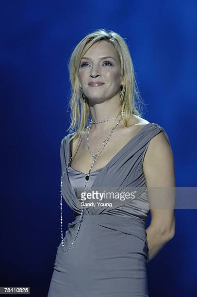 Uma Thurman presents at the Nobel Peace Prize Concert on December 11 2007 in Oslo Norway