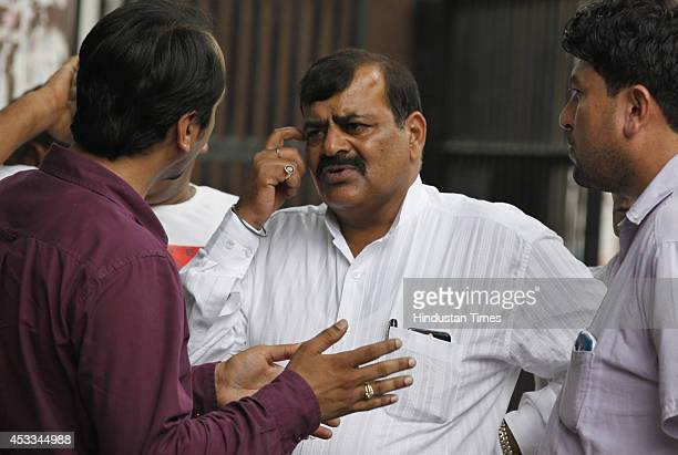 Umaid Singh husband of Phoolan Devi outside Patiala House court after the verdict on Phoolan Devi murder case on August 8 2014 in New Delhi India...