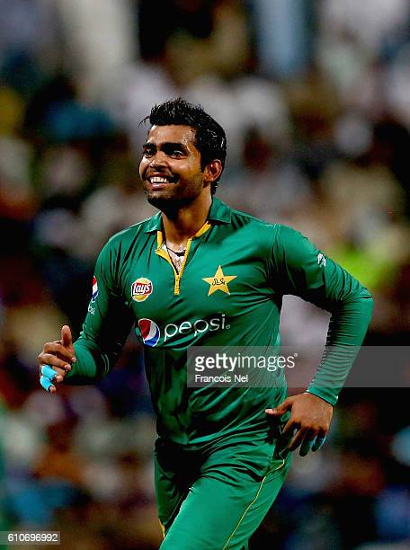Umar Akmal of Pakistan during the third T20 International match between Pakistan and West Indies at Zayed Cricket Stadium on September 27 2016 in Abu...