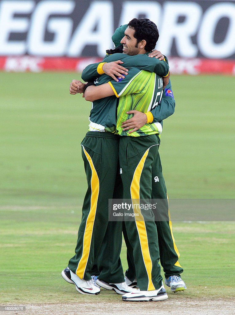 Umar Gul of Pakistan celebrates another wicket during the 2nd T20 match between South Africa and Pakistan at SuperSport Park on March 03, 2013 in Pretoria, South Africa