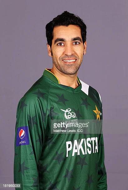 Umar Gul of Pakistan pictured during a Pakistan Portrait Session ahead of the ICC T20 World Cup at the Cinnamon Grand Hotel on September 13 2012 in...