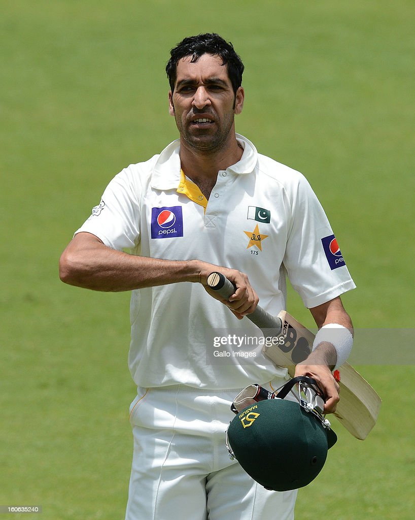 Umar Gul of Pakistan walks off for 23 runs during day 4 of the 1st Test match between South Africa and Pakistan at Bidvest Wanderers Stadium on February 4, 2013 in Johannesburg, South Africa.