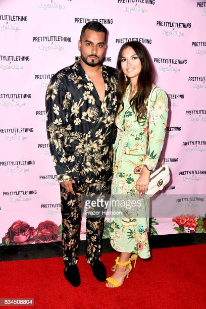 Umar Kamani and guest attends PrettyLittleThing X Olivia Culpo Launch at Liaison Lounge on August 17 2017 in Los Angeles California