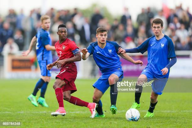 Umaro Embalo of Portugal during the U16 Mondial football Final match between France U16 and Portugal U16 on April 17 2017 in Montaigu France
