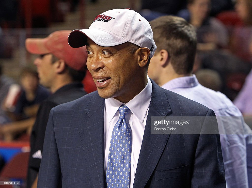 UMass hosted Harvard University in a 10 a.m. college basketball game at the Mullins Center on the UMass campus. Massachusetts governor Deval Patrick was seen in the stands.