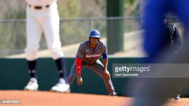 UMass Lowell's Oscar Marchena takes a lead off of first base The University of Massachusetts Lowell River Hawks played the University of Notre Dame...