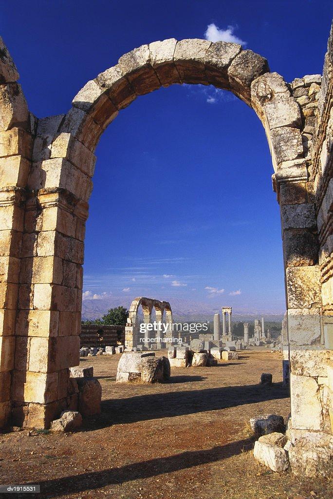 Umayyad Ruins, Anjar, Lebanon : Stock Photo