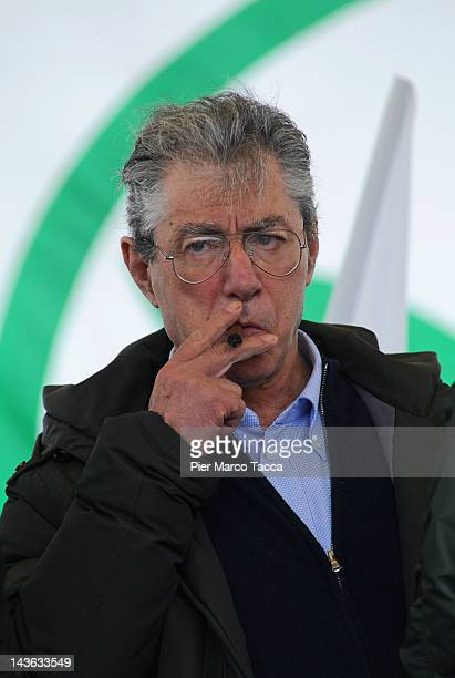 Umberto Bossi attends 'Lega day' on May 1 2012 in Bergamo Italy During a demonstration against the government of Mario Monti Umberto Bossi today...
