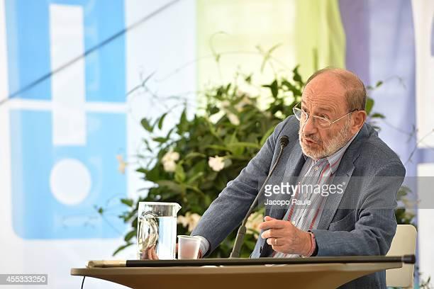 Umberto Eco attends Festival Della Comunicazione on September 12 2014 in Camogli Italy
