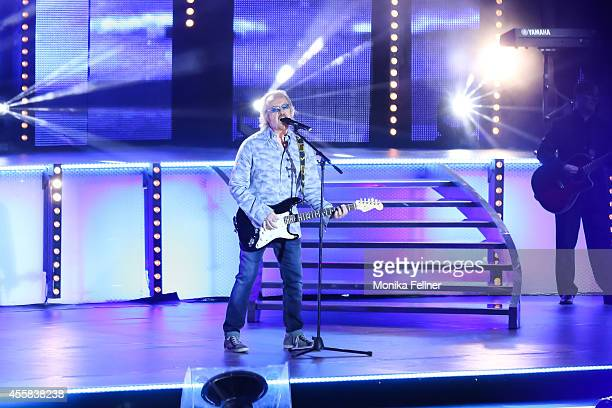 Umberto Tozzi performs live on stage at the 'Starnacht aus der Wachau' on September 20 2014 in Rossatz Austria