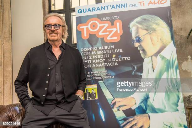 Umberto Tozzi Press Conference at Mimmo on March 28 2017 in Milan Italy