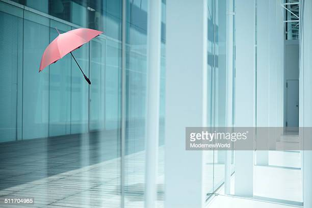 umbrella flying in the modern space