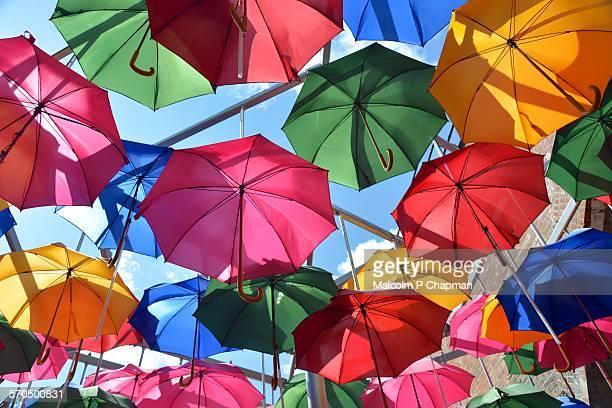 Umbrellas, Borough Market, London, UK