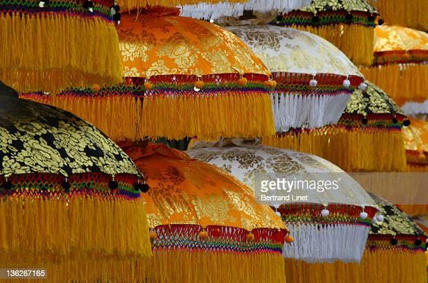 Umbrellas displayed during festival