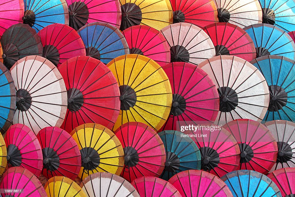 Umbrellas from Laos : Stock Photo